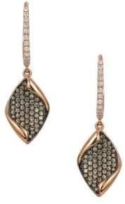 LeVian Chocolatier® Chocolate & Vanilla Diamond® Geometric Drop Earrings