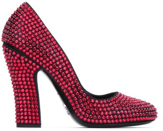 Prada Crystal Embellished Pumps