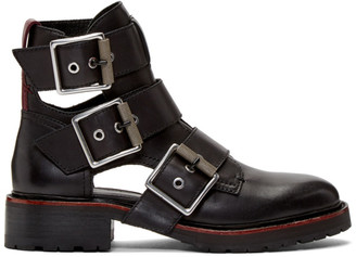 Rag & Bone Black Cannon Buckle II Boots