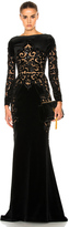 Zuhair Murad Embroidered Velvet Dress
