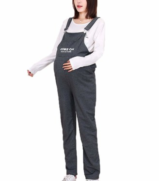 Suncolour Pregnant Women Overalls Design Dungarees Pants for Pregnancy