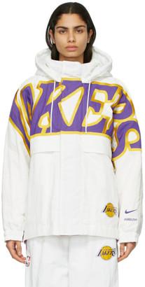 Nike White Ambush Edition NBA Collection Lakers Jacket