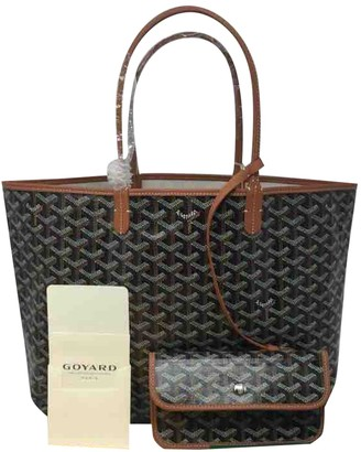 Goyard Saint-Louis Brown Leather Handbags