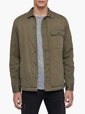AllSaints Deck Military Shirt, Cargo Green