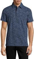 Nautica Leaf Print Polo Shirt