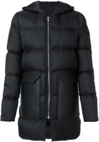 Rick Owens padded coat - men - Cotton/Calf Leather/Feather Down/Goose Down - 52