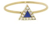 Jennifer Meyer Diamond Lapis Inlay Triangle Ring - Yellow Gold
