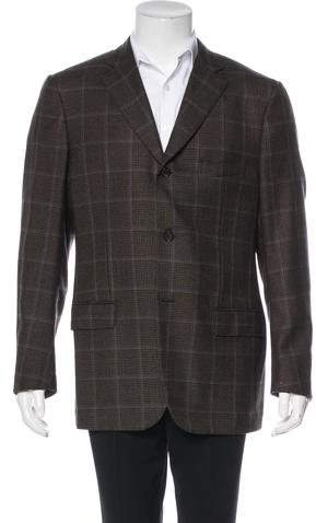 Isaia Plaid Wool Sport Coat
