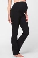 Ingrid & Isabel Women's Active Maternity Pants With Crossover Panel