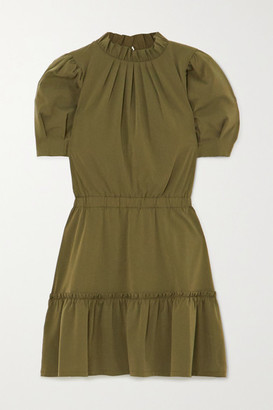 Alice + Olivia Alice Olivia - Vida Ruffled Modal-blend Mini Dress - Army green