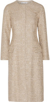 Oscar de la Renta Metallic tweed coat