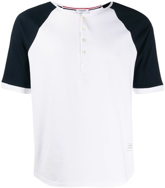 Thom Browne contrasting sleeves T-shirt