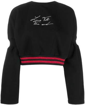 Marcelo Burlon County of Milan Love til the end sweatshirt