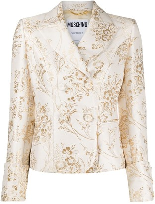 Moschino Jacquard Double-Breasted Blazer