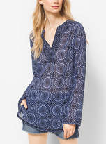 Michael Kors Printed Georgette Tunic