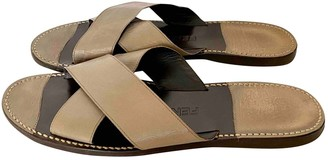 Fendi Beige Leather Sandals