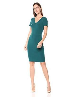 Lark & Ro Amazon Brand Women's Short Sleeve V-Neck Sheath Sweater Dress