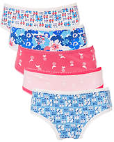 John Lewis Girls' Retro Floral Briefs, Pack of 5, Multi