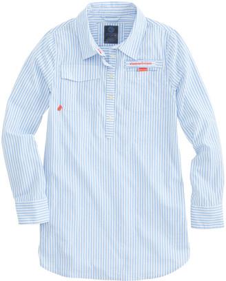 Vineyard Vines Girls Harbor Shirtdress Cover-Up