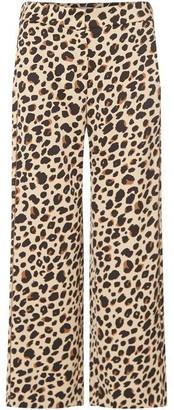 Marella Cera wide leg leopard