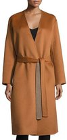 Vince Reversible Belted Robe Coat, Sepia/Heather