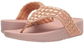 FitFlop Lulu Padded Shimmy Suede Toe Thong (Rose Gold) Women's Shoes