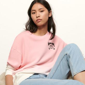 Sandro Embroidered gradient sweatshirt