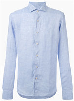 Xacus denim button-up shirt - men - Linen/Flax - 38