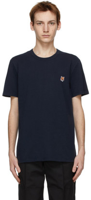MAISON KITSUNÉ Navy Fox Head Classic T-Shirt