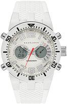 Sean John Men's Analog-Digital Lenox White Silicone Strap Watch 46mm