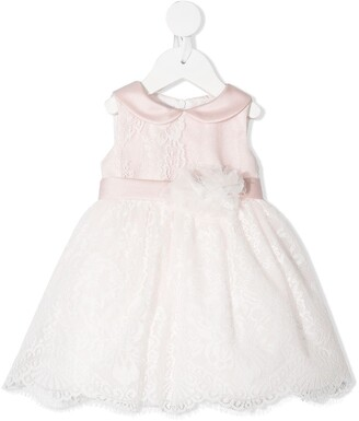 Colorichiari Floral Lace Flared Dress
