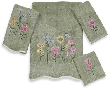 Avanti Premier Country Floral Sage Washcloth