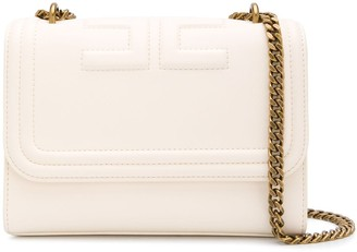 Elisabetta Franchi Embossed Logo Shoulder Bag