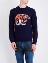 Gucci Loved and tiger-knitted wool jumper