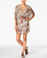 Miraclesuit Sheer Safari Embellished Caftan Cover-Up