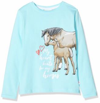 Salt&Pepper Salt and Pepper Girls' Pferde mit Glitzerdruck Longsleeve T-Shirt