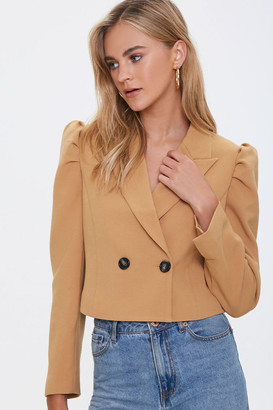 Forever 21 Shirred Double-Breasted Blazer