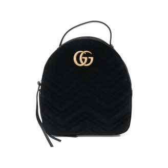 Gucci Marmont Black Velvet Backpacks