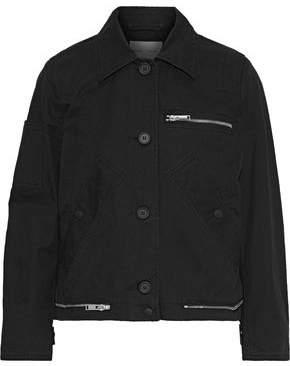 Proenza Schouler Pswl Zip-embellished Cotton-twill Jacket
