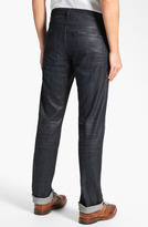 7 For All Mankind 'Slimmy' Slim Straight Leg Jeans (Waxed Denim)