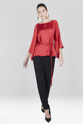 Natori Solid Charmeuse Butterfly Top