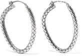 Bottega Veneta Oxidized Sterling Silver Hoop Earrings - one size