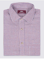 M&S Collection Pure Cotton Regular Fit Checked Shirt