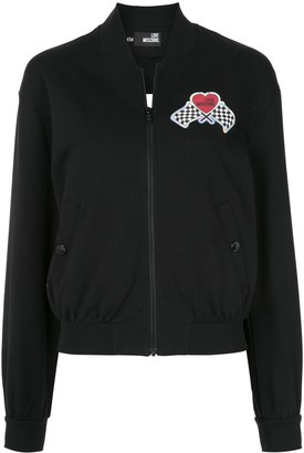 Love Moschino Race Patch Bomber