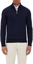 Barneys New York Men's Half-Zip Sweater-NAVY