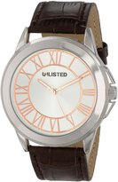 Unlisted Watches Men's UL1294 City Streets Roman Numeral Dial and Case Black Strap Watch