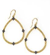 Armenta 18k Gold Open Diamond Pear Earrings