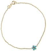 Jennifer Meyer Turquoise and Ruby Flower Bracelet