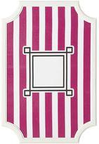 Scallop Framed Monogram Pinboard, Pink Magenta Stripes, Vertical