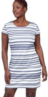 M&Co Izabel Curve striped shift dress